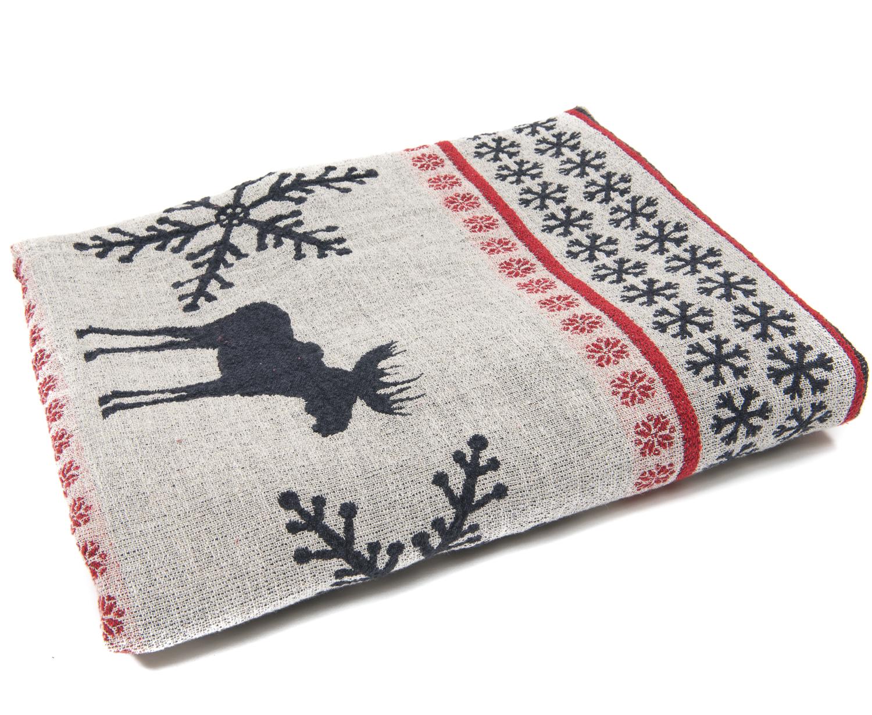 Christmas Throw Blanket.Linen Christmas Throw 170 X 120 Lovelin Lino Gaminiai
